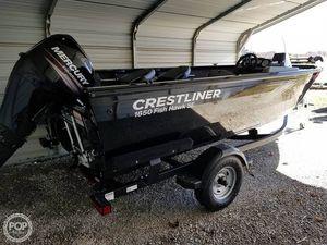 Used Crestliner 1650 Fish Hawk SE Aluminum Fishing Boat For Sale
