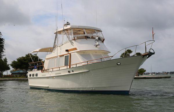 Used Island Gypsy 44 Flush Aft Deck Trawler Boat For Sale