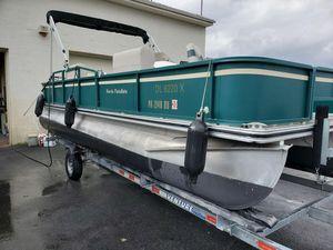 Used Harris 220 Fisherman Pontoon Boat For Sale