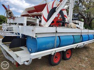 Used Homebuilt Harley Davidson Powered Paddle Boat Pontoon Boat For Sale