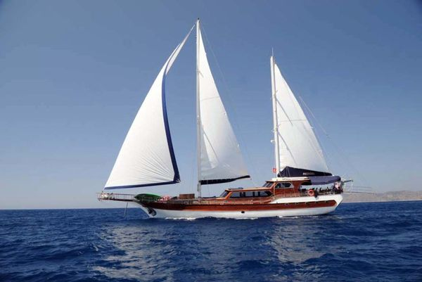 Used Custom Turkish Gulet Motor Sailing Yacht Motorsailer Sailboat For Sale