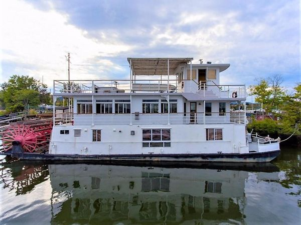 Used Ac Mcleod Custom Sternwheeler House Barge House Boat For Sale