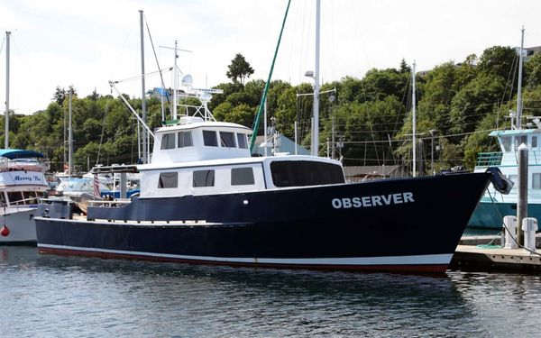 Used Custom Blount Marine Research Vessel Cruiser Boat For Sale