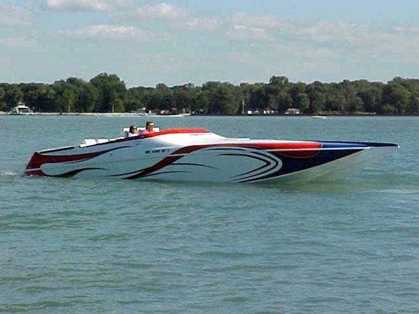 Used Ocean Express 38 Super Cat Poker Run Power Catamaran Boat For Sale