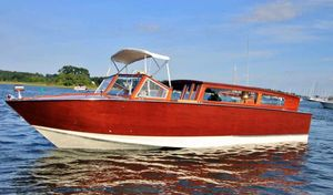 Used Custom Luxury Venetian Water Taxi Runabout Boat For Sale