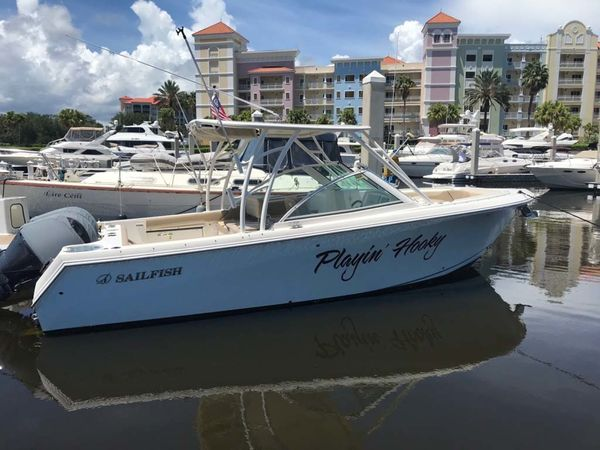 Used Sailfish 275 DC Saltwater Fishing Boat For Sale