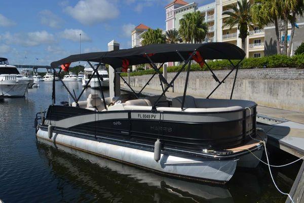 Used Harris Flotebote 230 Grand Mariner Pontoon Boat For Sale