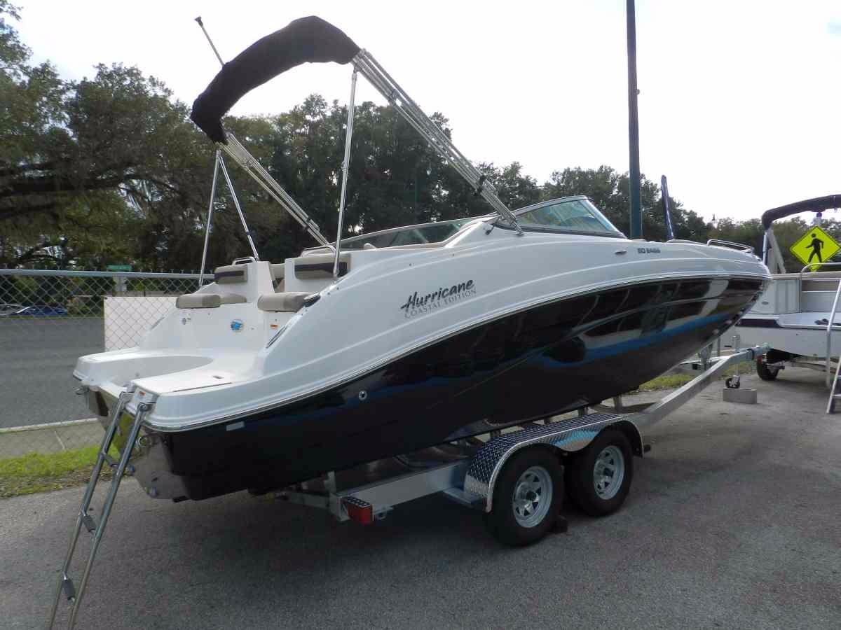 2016 new hurricane sundeck 2486 ob deck boat for sale for Hurricane sundeck for sale