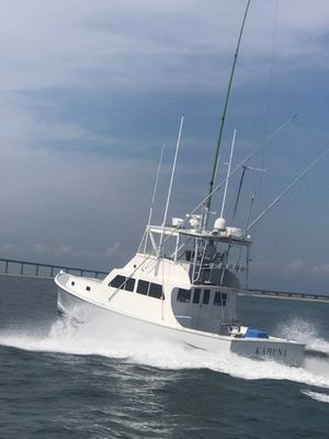 Used Young Brothers Downeast Flybridge Sports Fishing Boat For Sale
