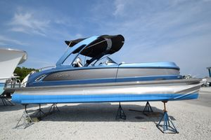 Used Manitou Legacy LT SHP Tritoon Pontoon Boat For Sale
