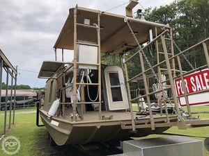 Used Custom Aluminum Home Made House Boat For Sale