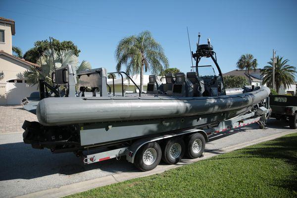 Used Usmi Naval Special Warfare Rib Rigid Sports Inflatable Boat For Sale