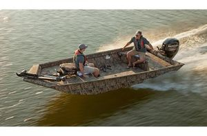 Used Lowe Roughneck 1760 Tiller Jon Boat For Sale