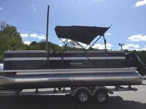 New Crest II 220sls Pontoon Boat For Sale