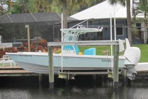Used Everglades 243CC With Trailer and No Bottom Paint Center Console Fishing Boat For Sale