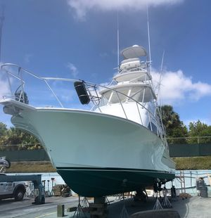 Used Cabo Flybridge with C-12's and 2000 Hours Service Flybridge Boat For Sale