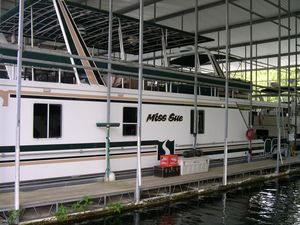 Used Sharpe 65' x 16' House Boat For Sale