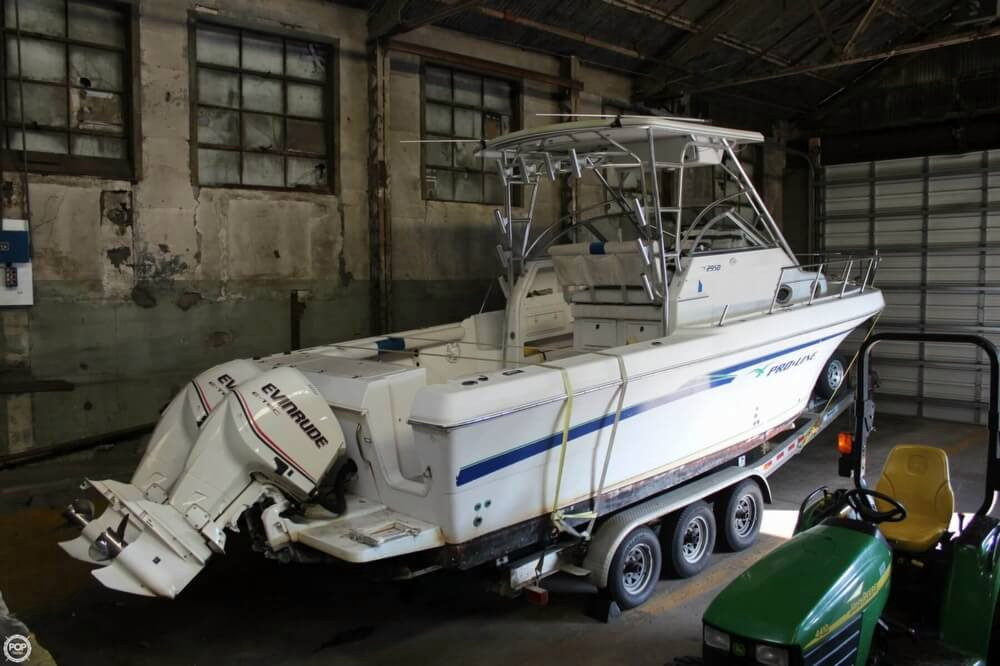 1999 used pro line 2950 mc walkaround fishing boat for for Fishing boats for sale in ohio