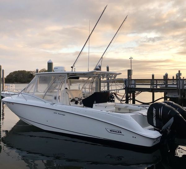 Used Boston Whaler 320 Outrage Cuddy Cabin Center Console Fishing Boat For Sale