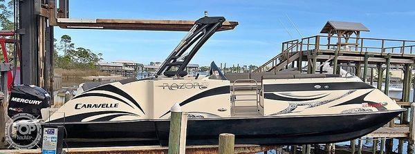 Used Caravelle Razor Ur-247 Pontoon Boat For Sale