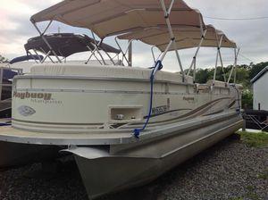 Used Playbuoy Marquise 2527 I/o Pontoon Boat For Sale