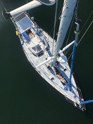 Used Custom Blue Water Steel Cutter Sailboat For Sale