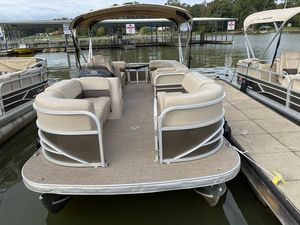 Used Sun Tracker PARTY BARGE 22 w/ Mercury 115 ELPT 4S Pontoon Boat For Sale