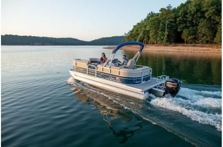 Used Sun Tracker PARTY BARGE 20 w/ Mercury 90Hp 4S CT Pontoon Boat For Sale
