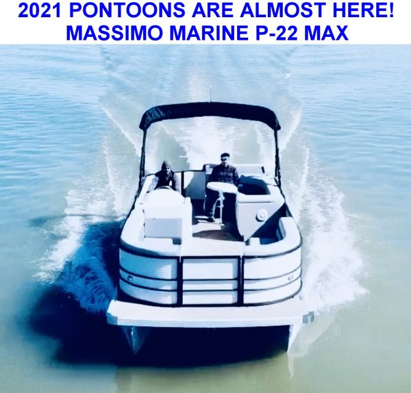 New Massimo Marine P-23 Max 115HP Tan Pontoon Boat For Sale