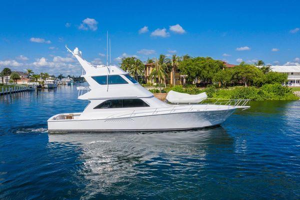 Used Viking Enclosed Bridge Convertible Sports Fishing Boat For Sale