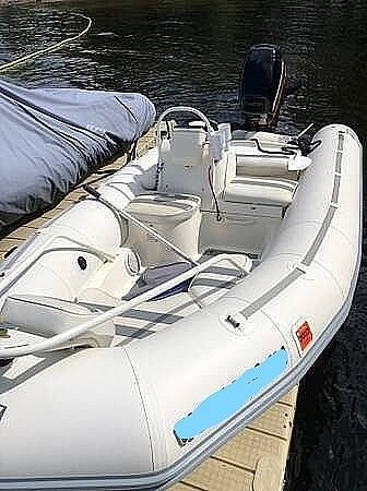 Used Zodiac YL420 DL Inflatable Boat For Sale