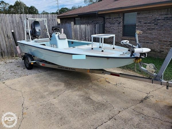 Used Skimmer Skiff 18 Flats Fishing Boat For Sale
