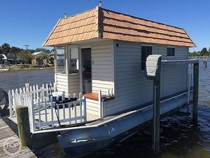 Used Custom Built 28 x10 House Boat For Sale