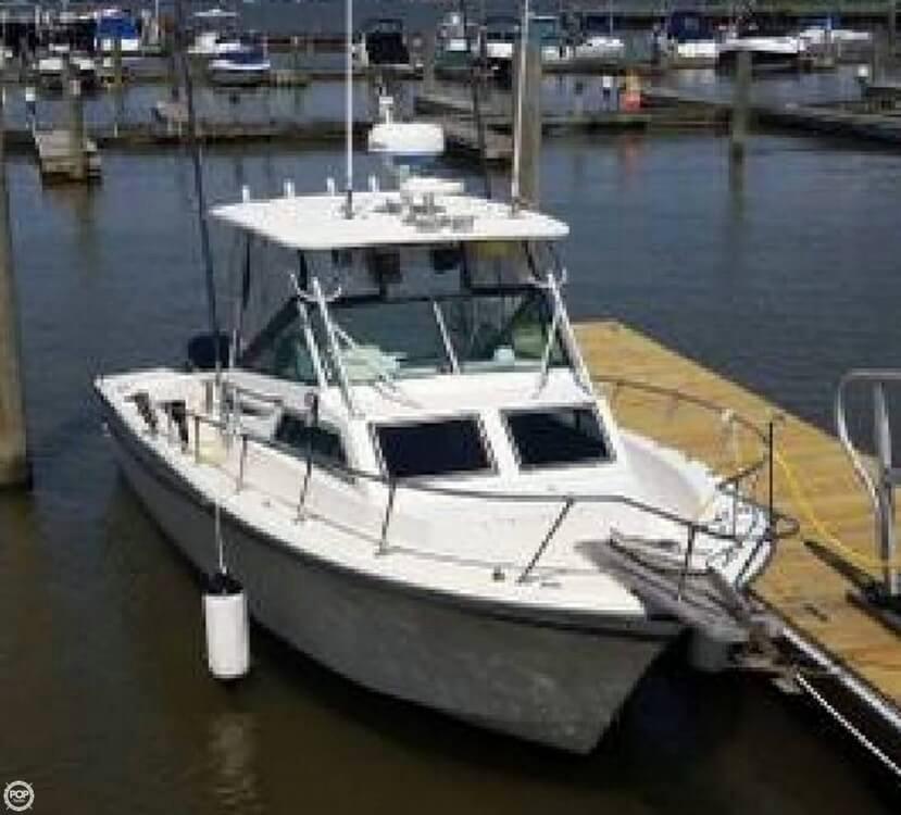 1986 used grady white 25 sailfish walkaround fishing boat for Grady white fishing boats