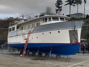 Used Custom Hawkins Pilothouse Trawler Cruiser Boat For Sale