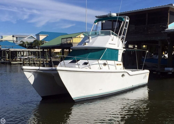 Used Baha Cruisers 340 King Cat Flybridge Sports Fishing Boat For Sale