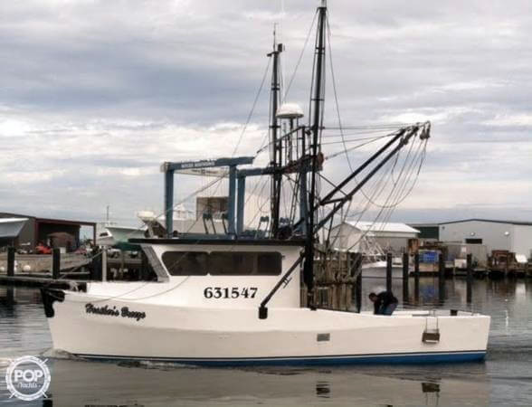 1980 used custom 37 fishing trawler commercial boat for