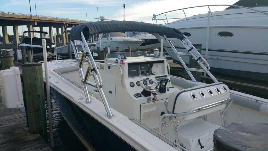 2007 used jefferson marlago 35 cuddy center console for Used center console fishing boats for sale