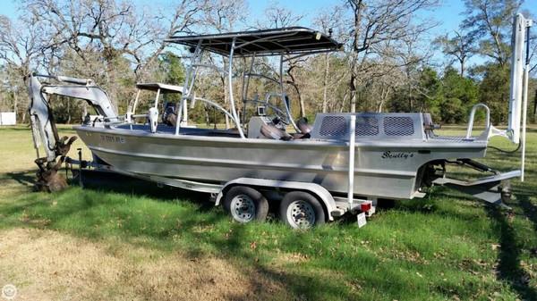 2009 used scullys custom 20 aluminum fishing boat for sale for Custom aluminum fishing boats