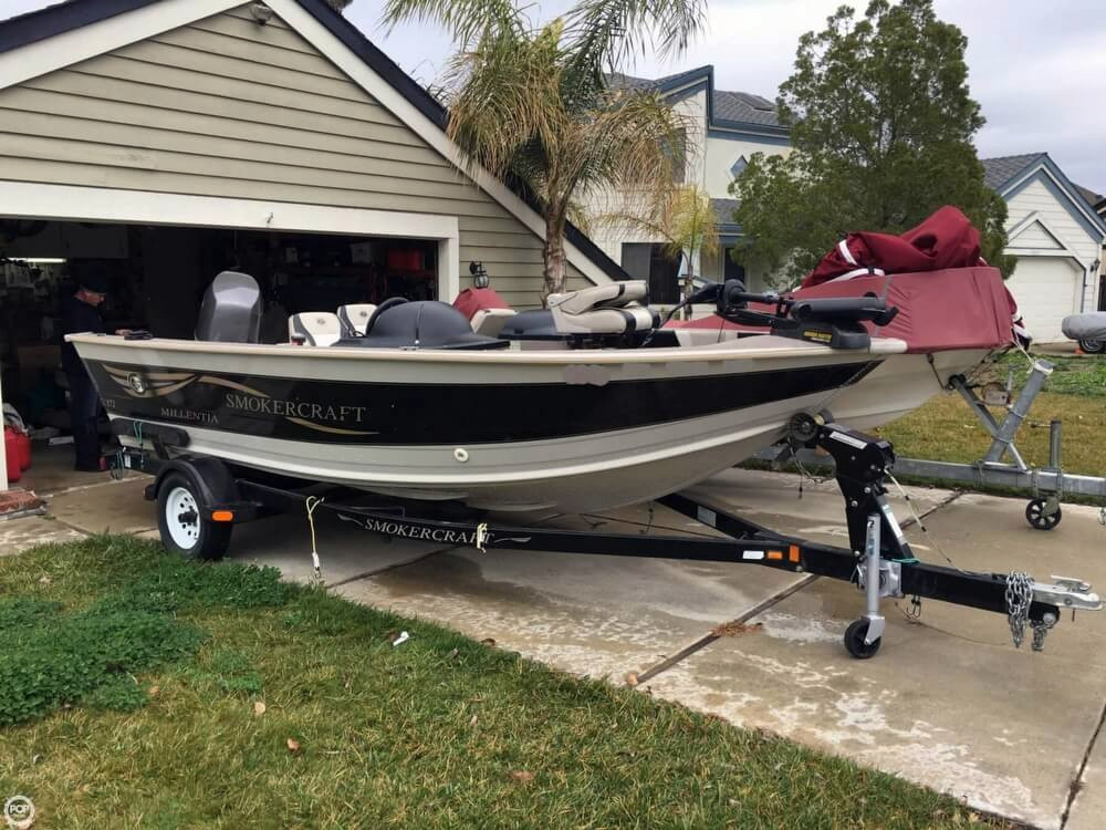 2001 used smoker craft millentia 172 aluminum fishing boat for Aluminum craft boats for sale