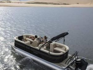 New Crest Classic DLX 220 SLS Pontoon Boat For Sale