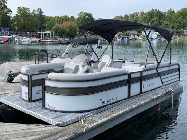 New Crest II 220 SLS Pontoon Boat For Sale