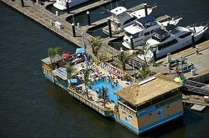 Used Custom Tiki Barge w/ Pool Commercial Boat For Sale