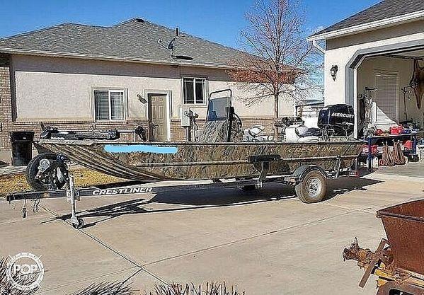 Used Crestliner 1860 Retriever CC Aluminum Fishing Boat For Sale
