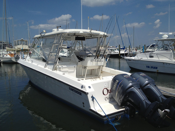Used Contender 35 Side Console Saltwater Fishing Boat For Sale