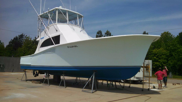 Used Ray Davis Custom Carolina 42 Convertible Fishing Boat For Sale