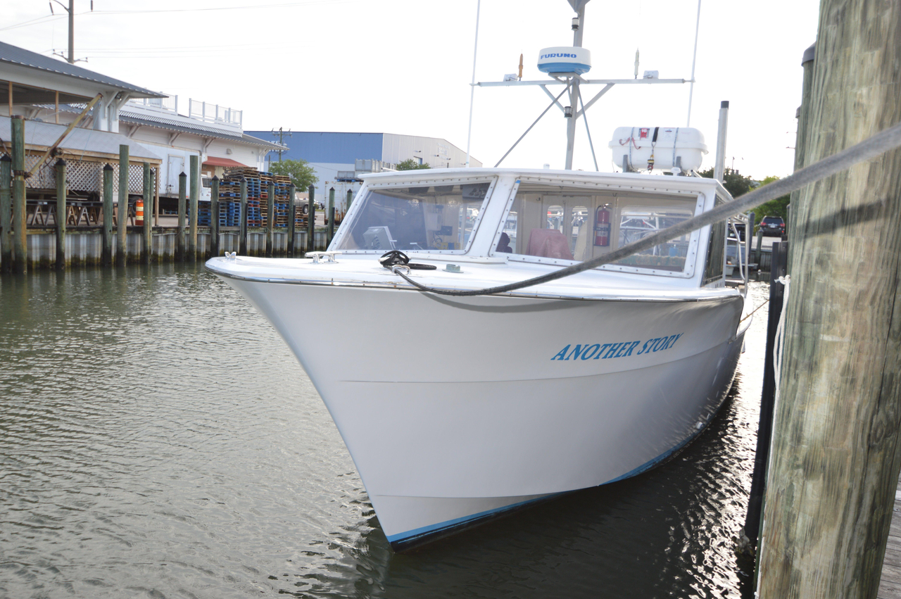 1973 used hatteras commercial fishing vessel commercial for Fishing pontoons for sale