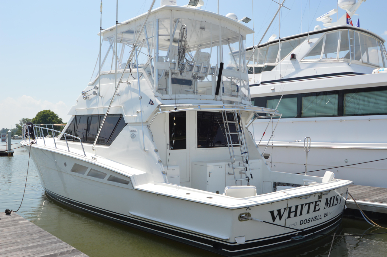 1993 used hatteras 50 convertible sports fishing boat for for Fishing yachts for sale