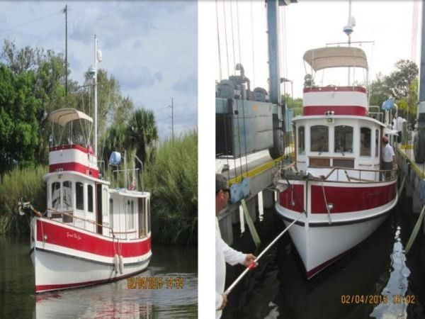 Used Marine Trader Pilgrim 40 North Castle Marine Pilothouse Boat For Sale