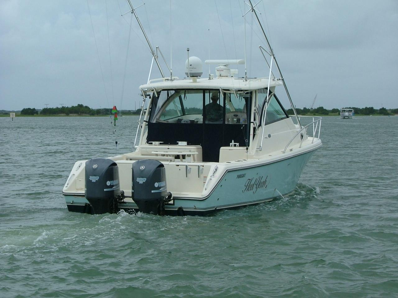 2013 used pursuit os 345 offshore saltwater fishing boat for Tuna fishing boats for sale